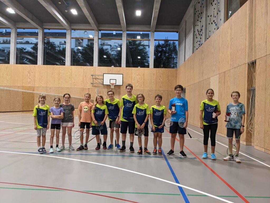 Gruppenfoto aller Junioren die an den Clubmeisterschaften 2021 teilnahmen